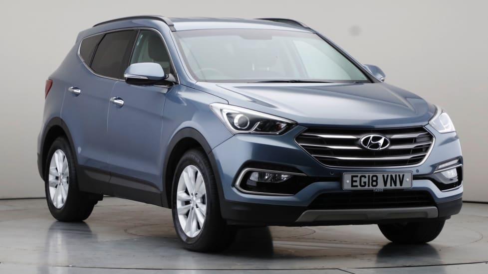 2018 Used Hyundai Santa Fe 2.2L Premium Blue Drive CRDi