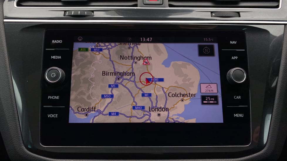 Sat nav display