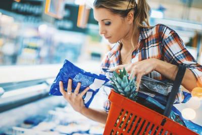 Supermarkt voeding label lezen