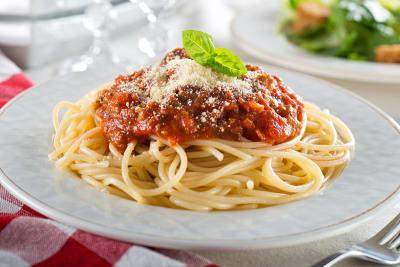 Pastasaus met spaghetti