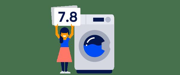 TestResultaten - Wasmachine - Columns