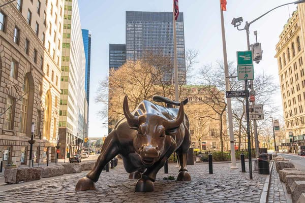 Wall Street stier