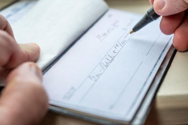Verzilveren van cheques