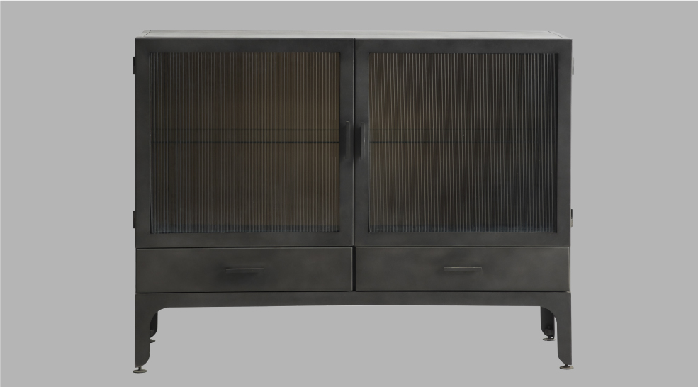 GLASS METAL CABINETS
