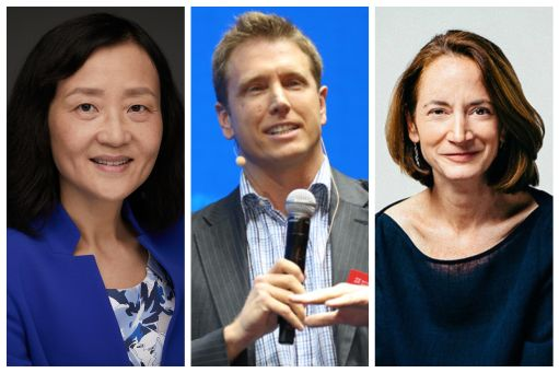 Professor Wei Jiang, Christopher Thomas, and Avril Haines