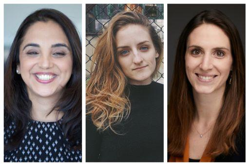 A composite photo of headshots of Sheena Iyengar, Sandra Matz, and Erica Bailey