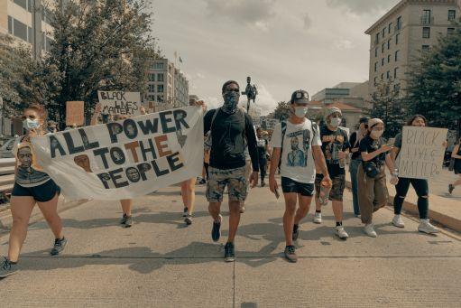 Black Lives Matter protestors march in Washington, DC