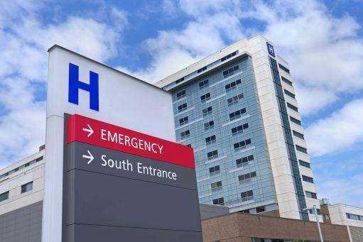 hospital sign south entrance