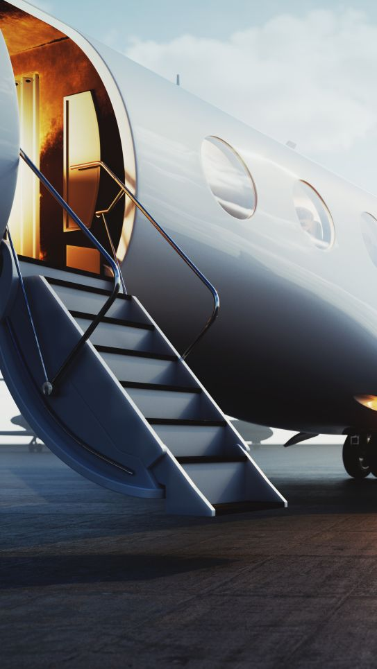 private jet on tarmac