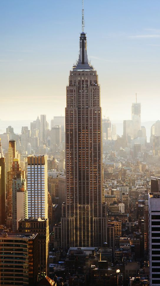 A photograph overlooking midtown Manhattan
