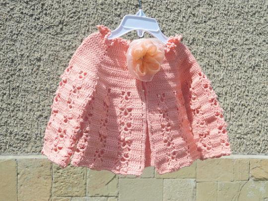 c7f660251 Crochet Baby Vest in Coral