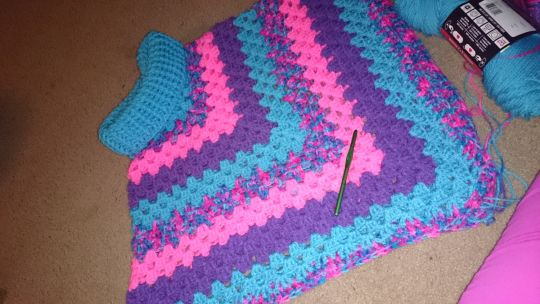 Cowl Neck Poncho Crochet Creation By Simplyforcrafts Crochet