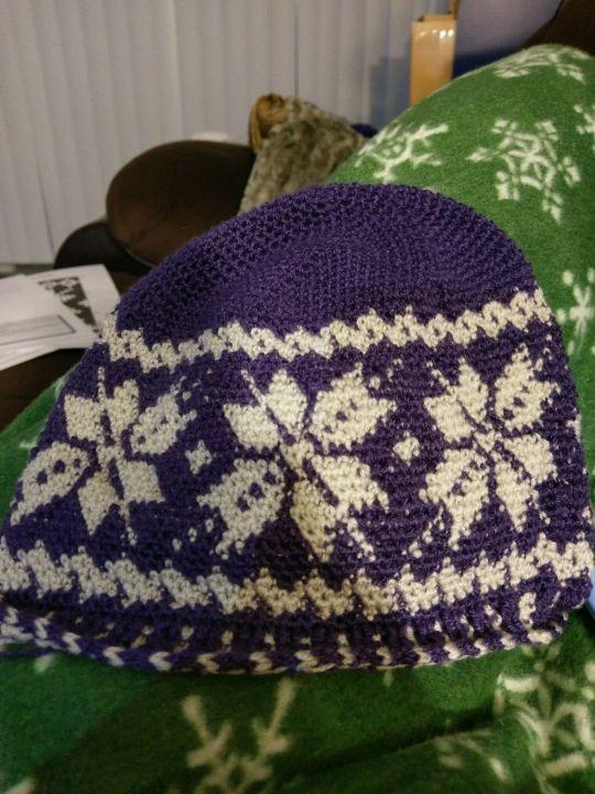 Snowflake Fair Isle Crochet hat - Crochet creation by Down Home ... a98f2a7292d