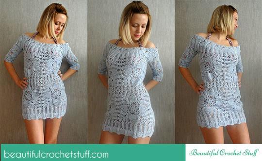 Crochet Beach Cover Up Pattern Crochet Creation By Janegreen