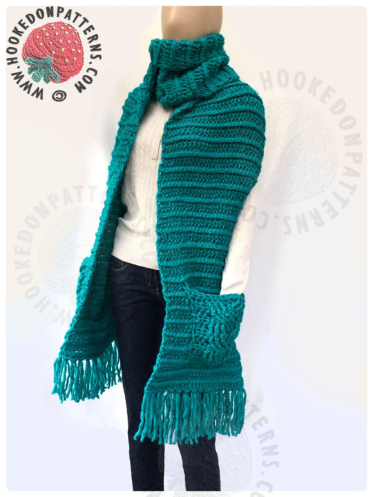 Free Super Chunky Scarf With Pockets Crochet Creation By Ling Ryan