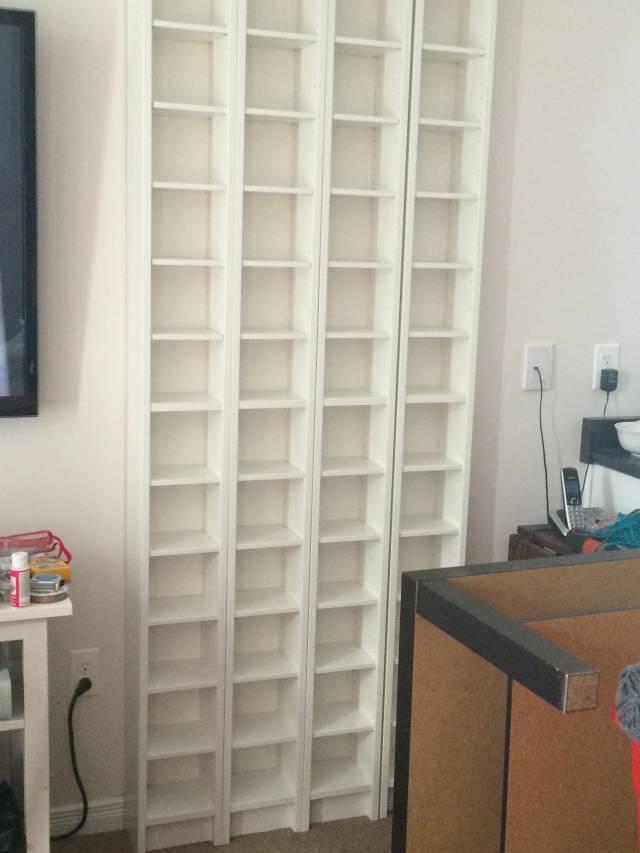 I Used 4 Ikea DVD Storage Racks To Store My Yarn.