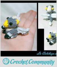 Baby hippogriff amigurumi by cristell15 on DeviantArt | 235x200