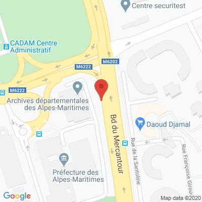 Map - DEPARTEMENT DES ALPES MARITIMES