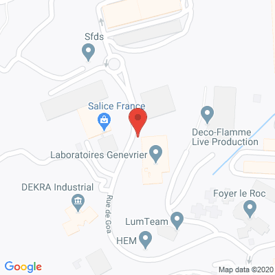 Map - LABORATOIRES GENEVRIER
