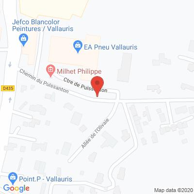 Map - 100% Pneu Vallauris