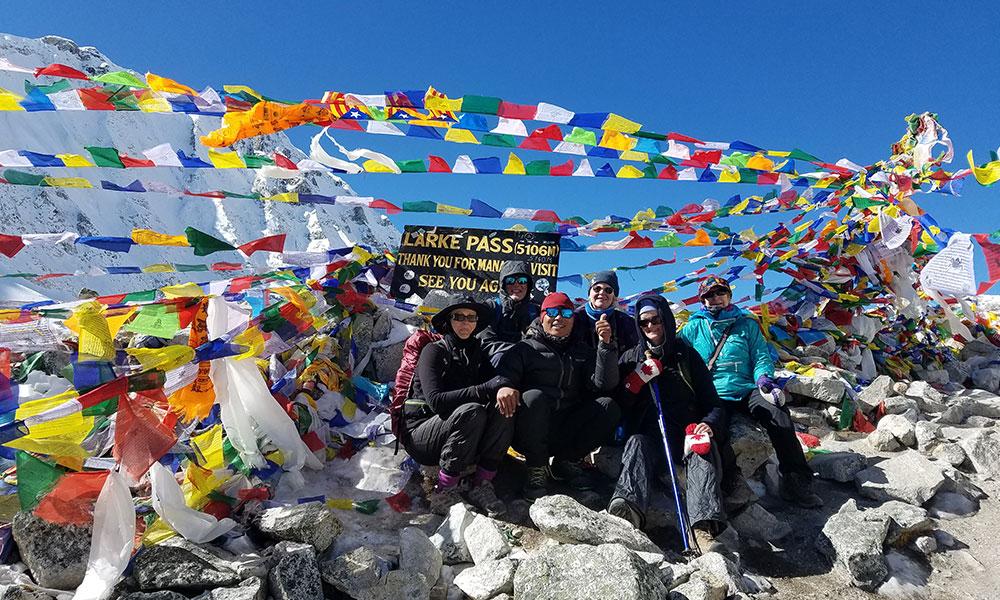 Larkya La Pass - one of the longest pass in Nepal Himalaya