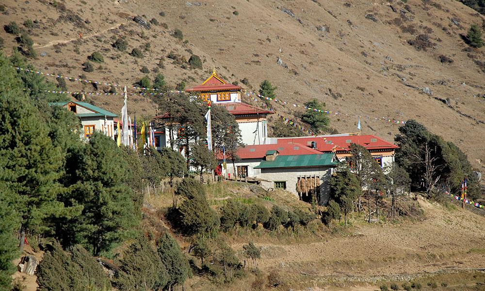 Monastery nearby Junbesi