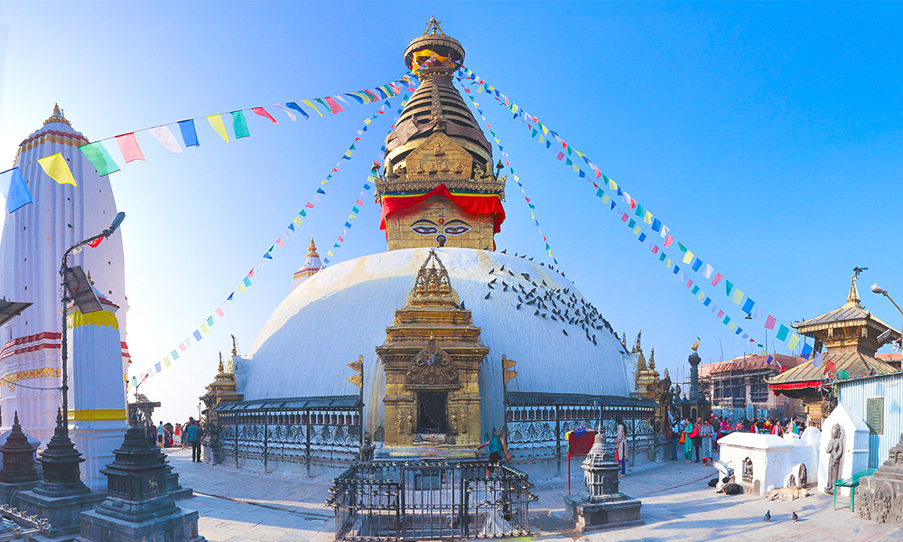 Swoyambhunath - the monkey temple