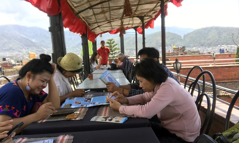 Lunch at Bhaktapur rooftop