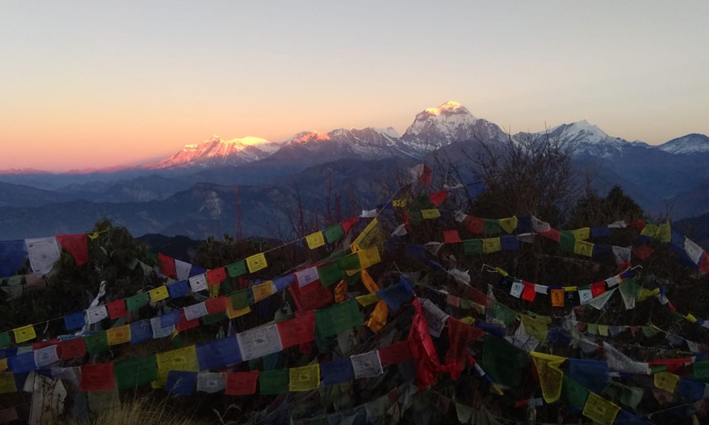 Annapurna ranges view from Poon Hill