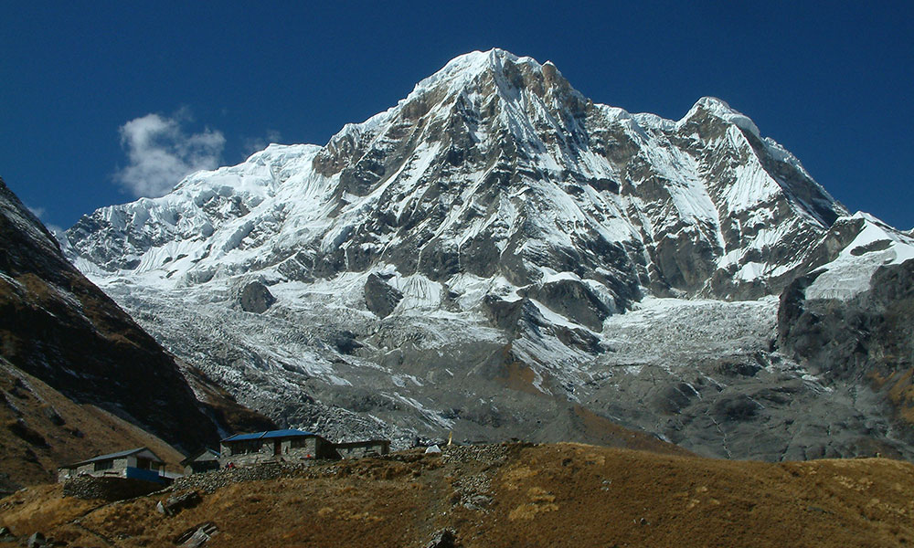 View of Annapurna South from Annapurna Base Camp South