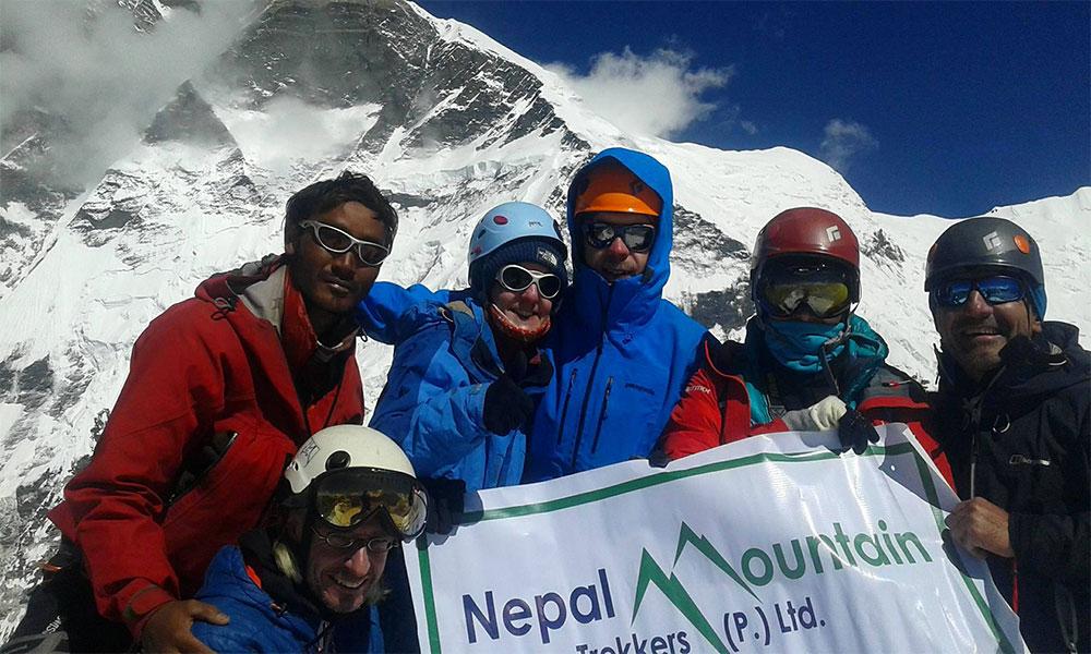 Nepal Mountain Trekkers Team on Island Peak