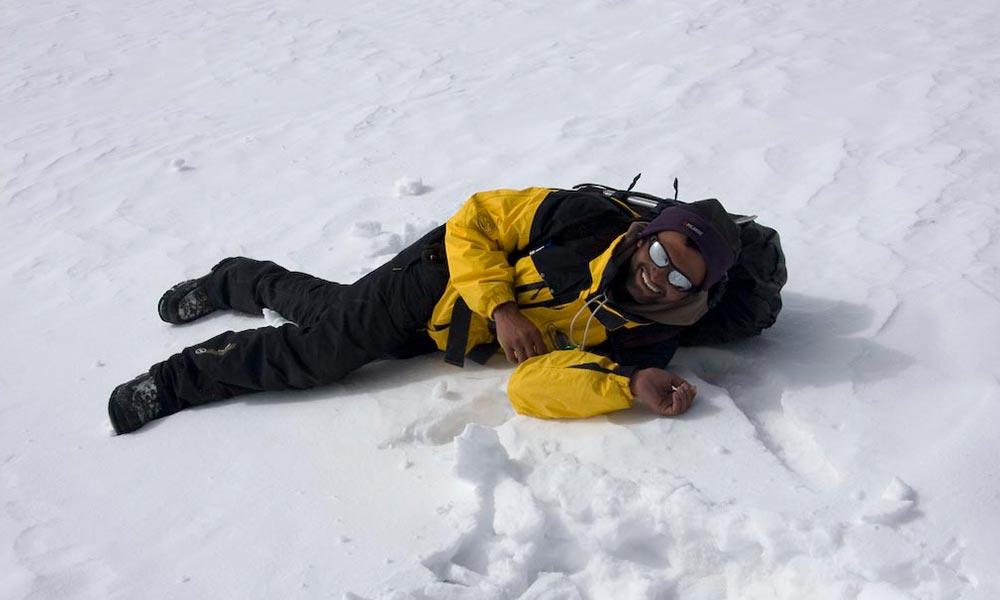 Sleeping on Snow