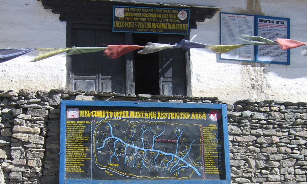 Check Post and Visitor Information Center - Upper Mustang Restricted Area