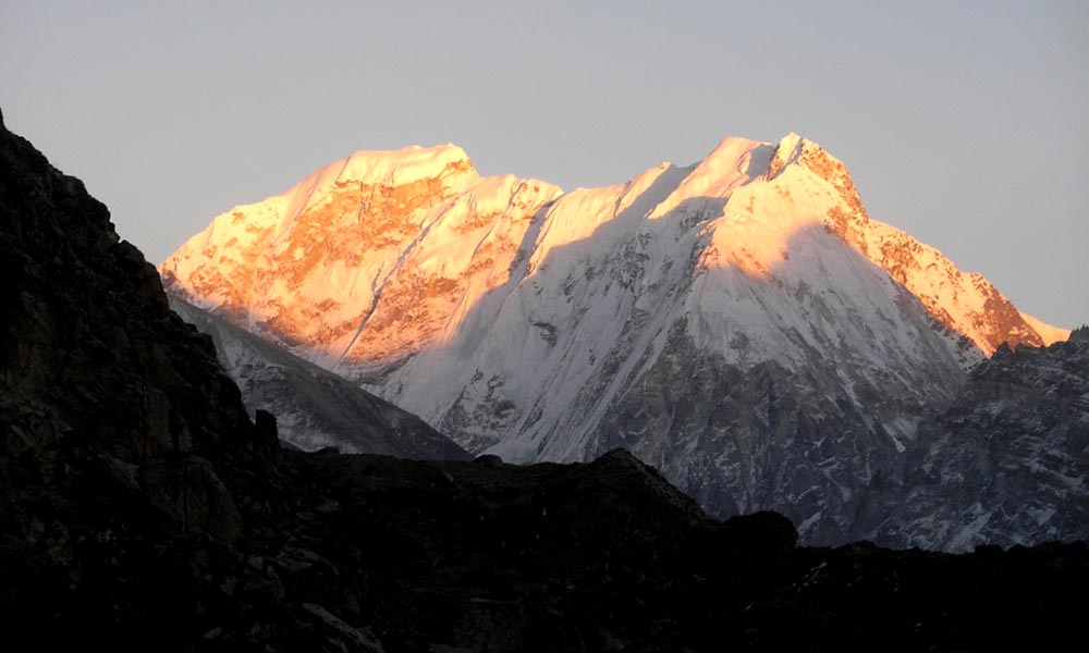 Sunrise view of Nepal Peak