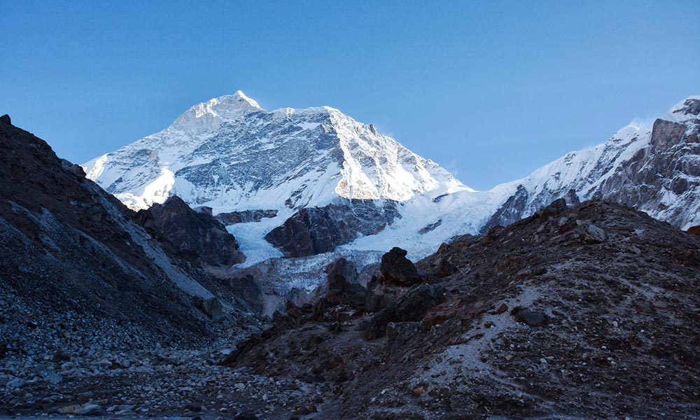 View of Makalu from Base Camp