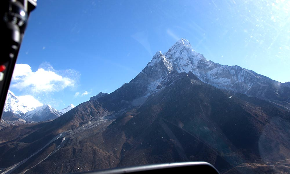 View of Ama Dablam from Mountain Flight