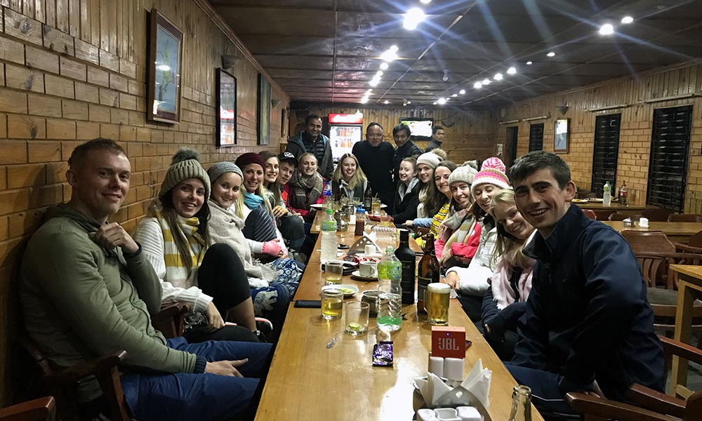 Group dinner at Nagarkot