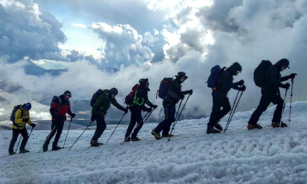 Group Climbing Mera Peak