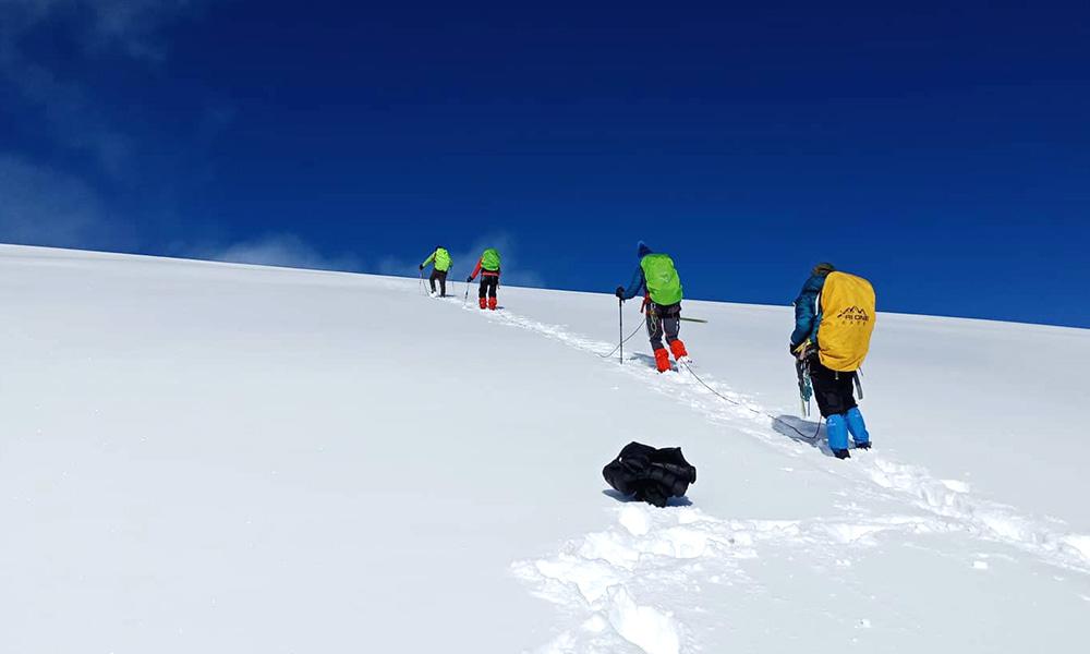 On the way to Summit of Mera Peak