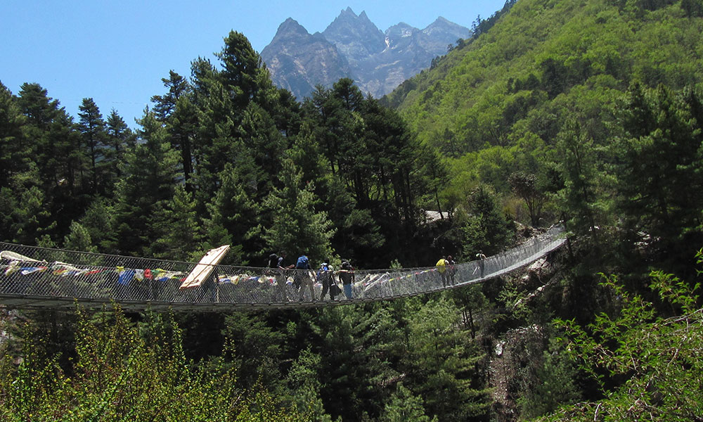 Suspension Bridge on the way to Everest Base Camp
