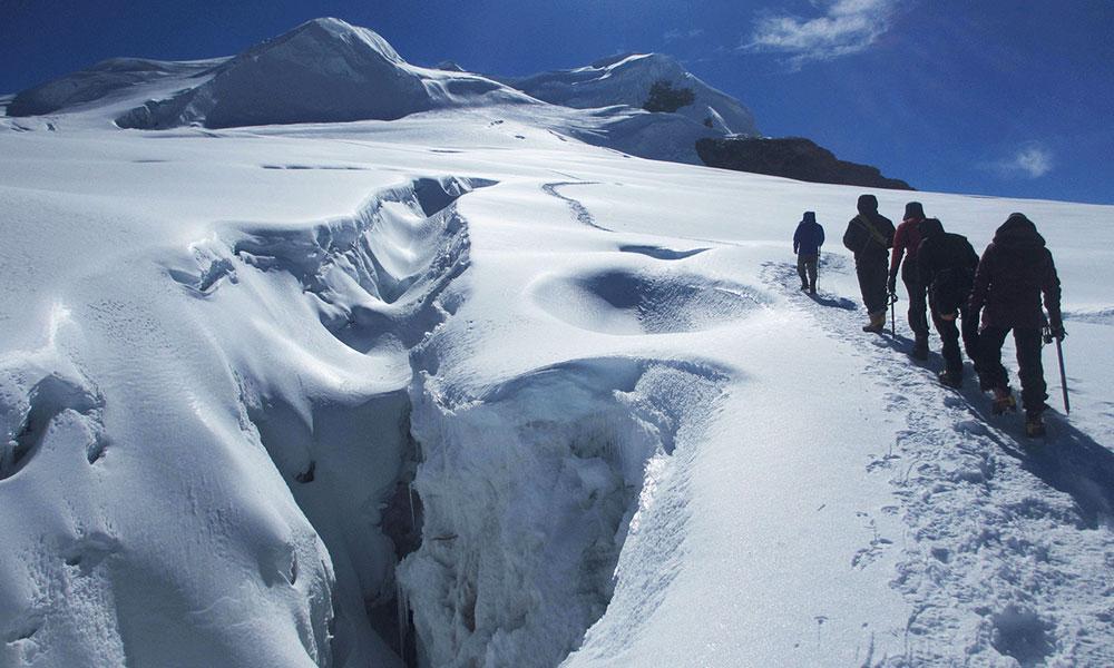 Crevasse on the way to Mera Peak