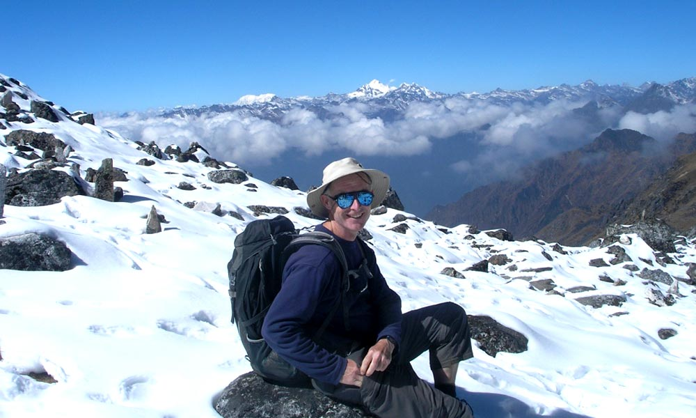 Panoramic view of Mahalangur Ranges
