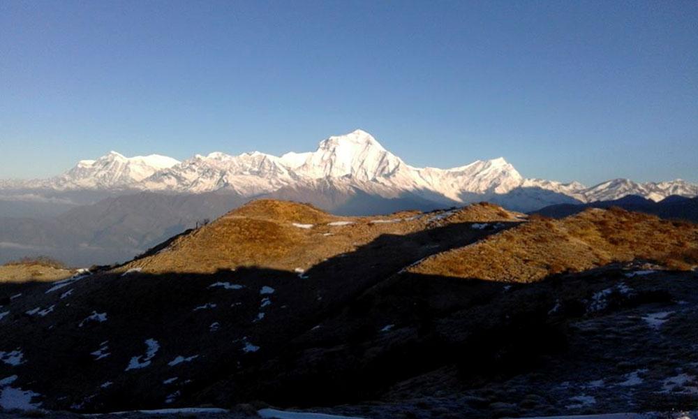 Panoramic view of Annapurna ranges