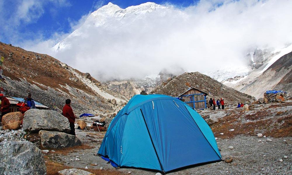Tent camping during Makalu Base Camp Trekking