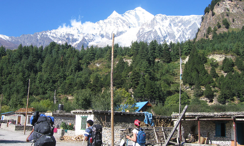 View of Butterfly peak from Larjung