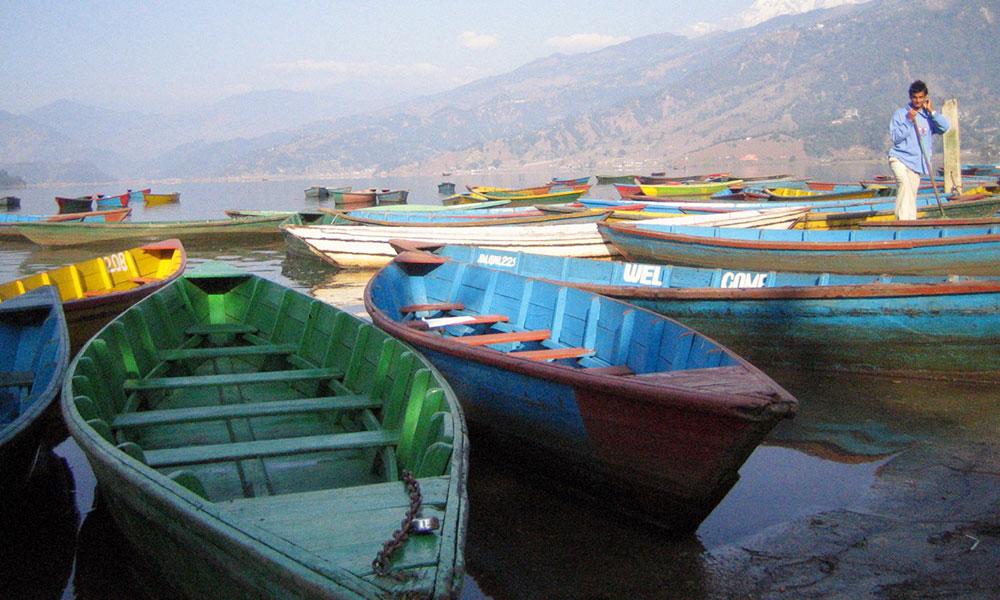 Boats at Fewa Lake, Pokhara