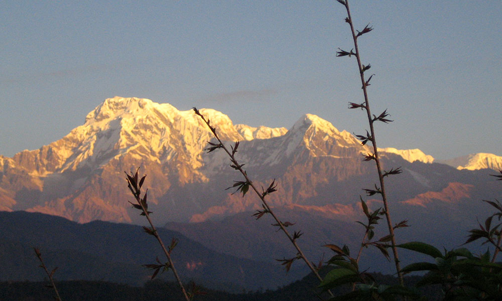 Annapurna ranges view from Dhampus