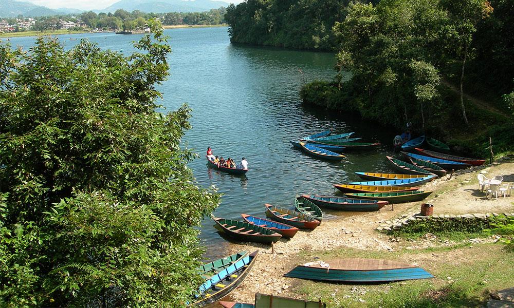 Boats at Fewa Lake