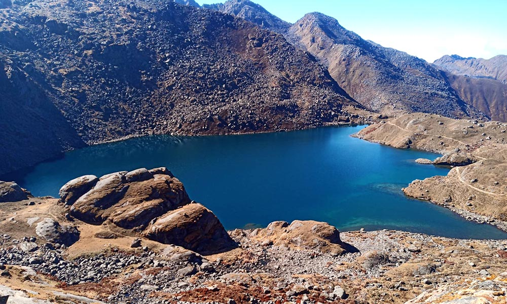 The holy and spiritual Gosaikunda Lake
