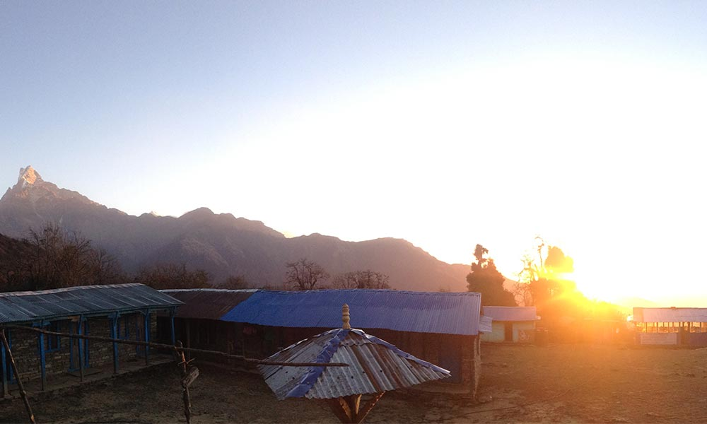 Sunrise view from Mardi Low Camp